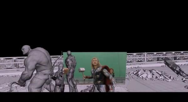 Les effets spéciaux dans The Avengers