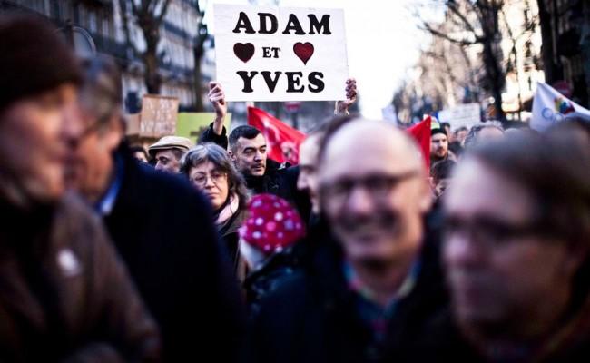 30 photos de gens heureux à la manif pour le mariage gay